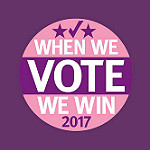 We Vote We Win Button