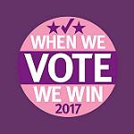We Vote We Win Button