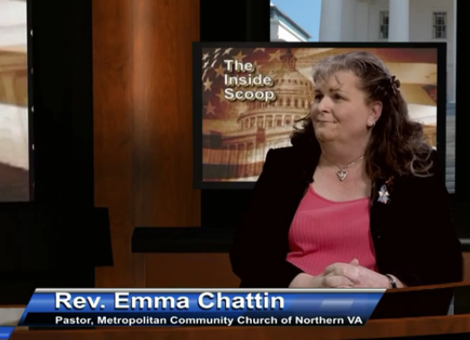 Reverend Emma Chattin on Inside Scoop